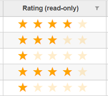 Star Rating Column in JavaScript DataGrid